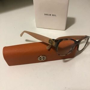 Tory Burch Authentic eyeglass peach,brown colors